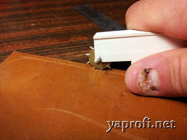 Кожаный чехол-портмоне своими руками
