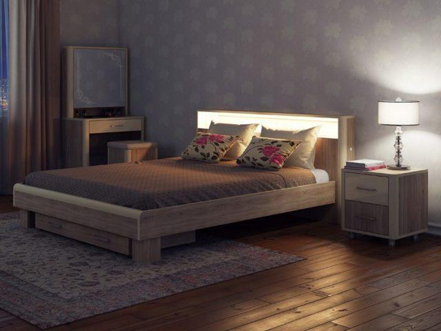 Кровать с подсветкой изголовья своими руками