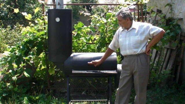 Коптильня-мангал-барбекю из газовых баллонов своими руками