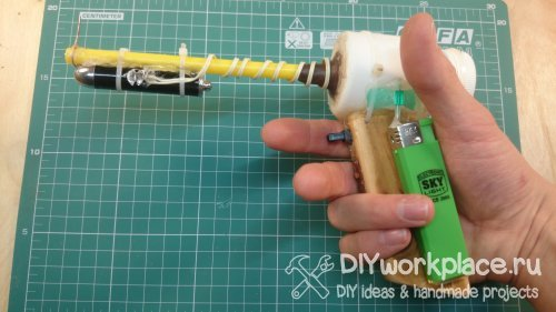 Как сделать крутую ручную «пушку» для стрельбы мягкими пульками своими руками!