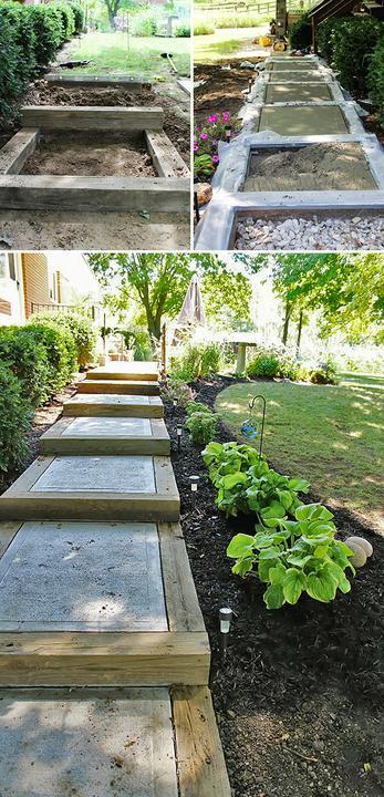 Садовая лестница своими руками