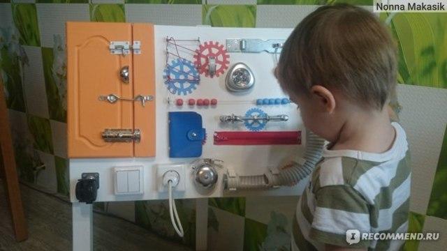 Бизиборд для малыша своими руками